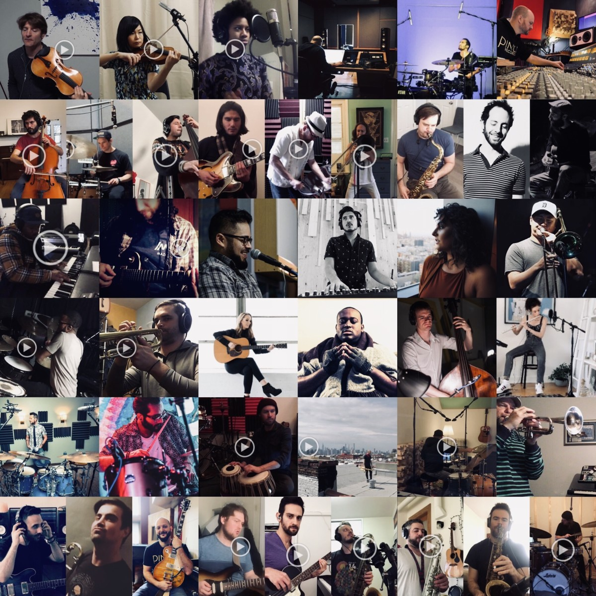 """These are """"The People Of 2020"""" as they recorded their parts for this most unique project. (CourtesyAdam Ahuja)"""