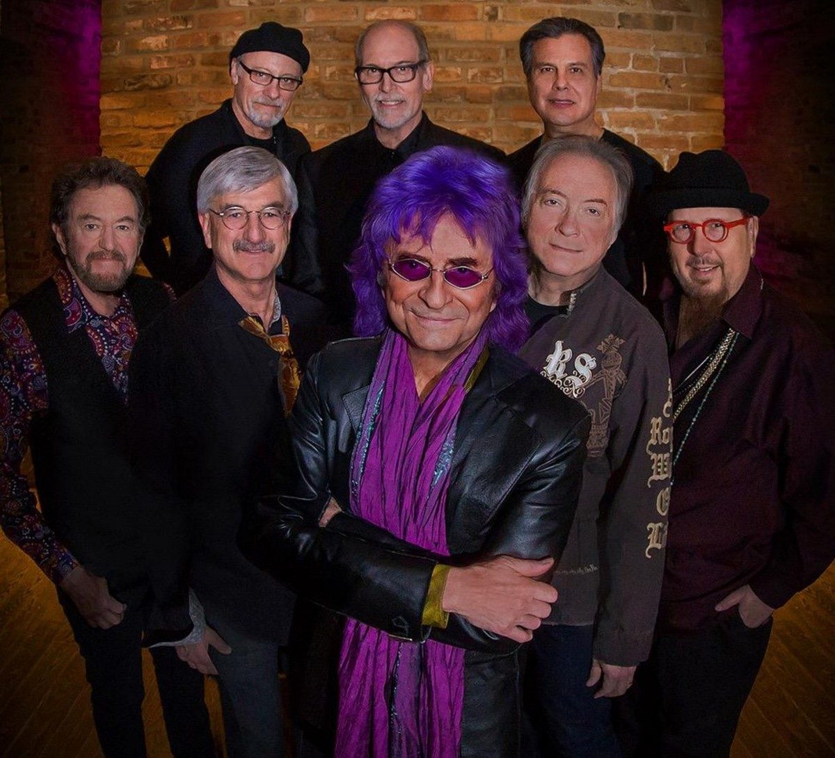Current Ides of March band publicity photo, Jim Peterik in the center