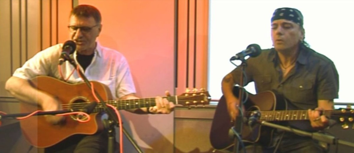 Steve Harley, left, and Joe, 2012, courtesy of joematera.com