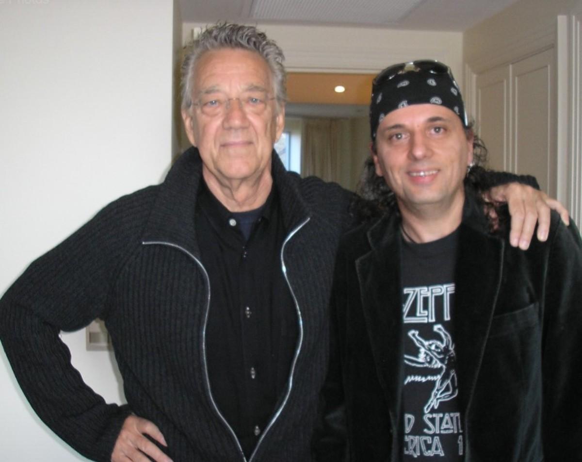 Ray Manzarek with Joe, 2007, courtesy of Joe Matera