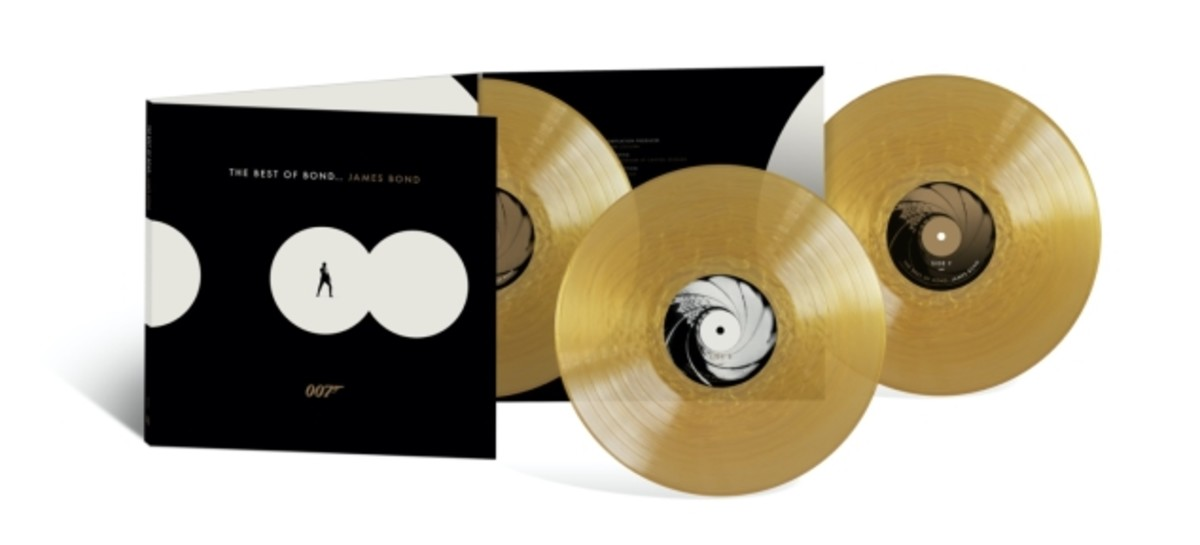 """""""The Best Of Bond…James Bond"""" in limited-edition gold vinyl."""