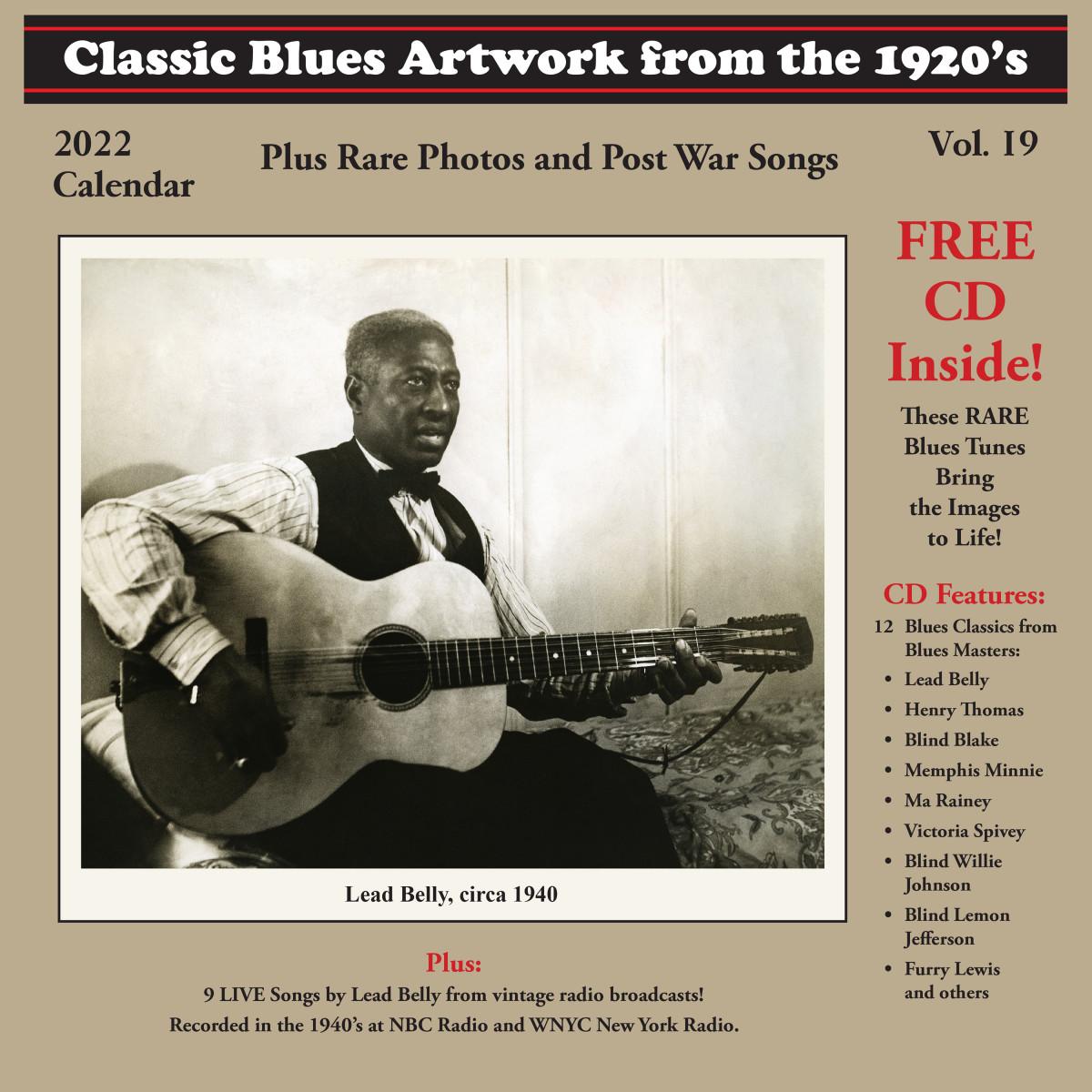 Blues Images 2022 Calendar front cover (300 dpi, 10x10)