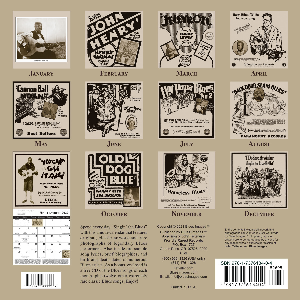 Blues Images 2022 Calendar back cover (300 dpi, 10x10)