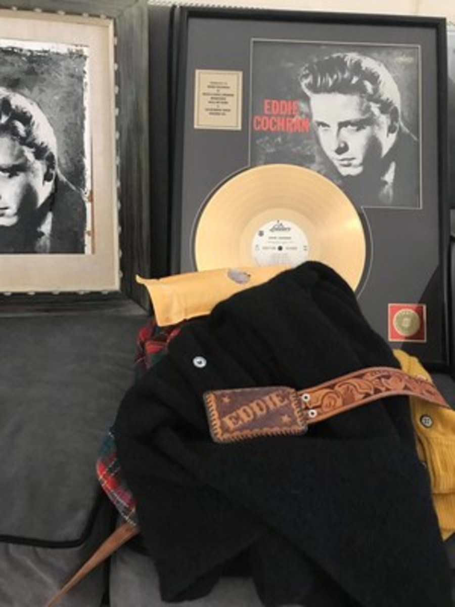 Items from theEddie Cochran collection.