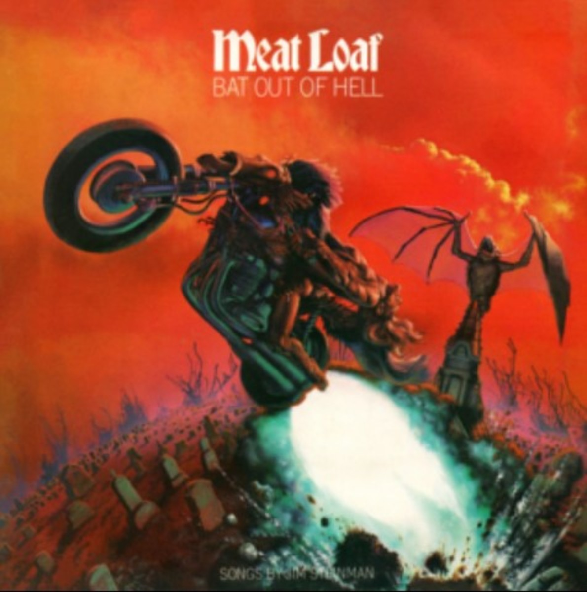 Songs by Jim Steinman shown at the bottom of the original album cover