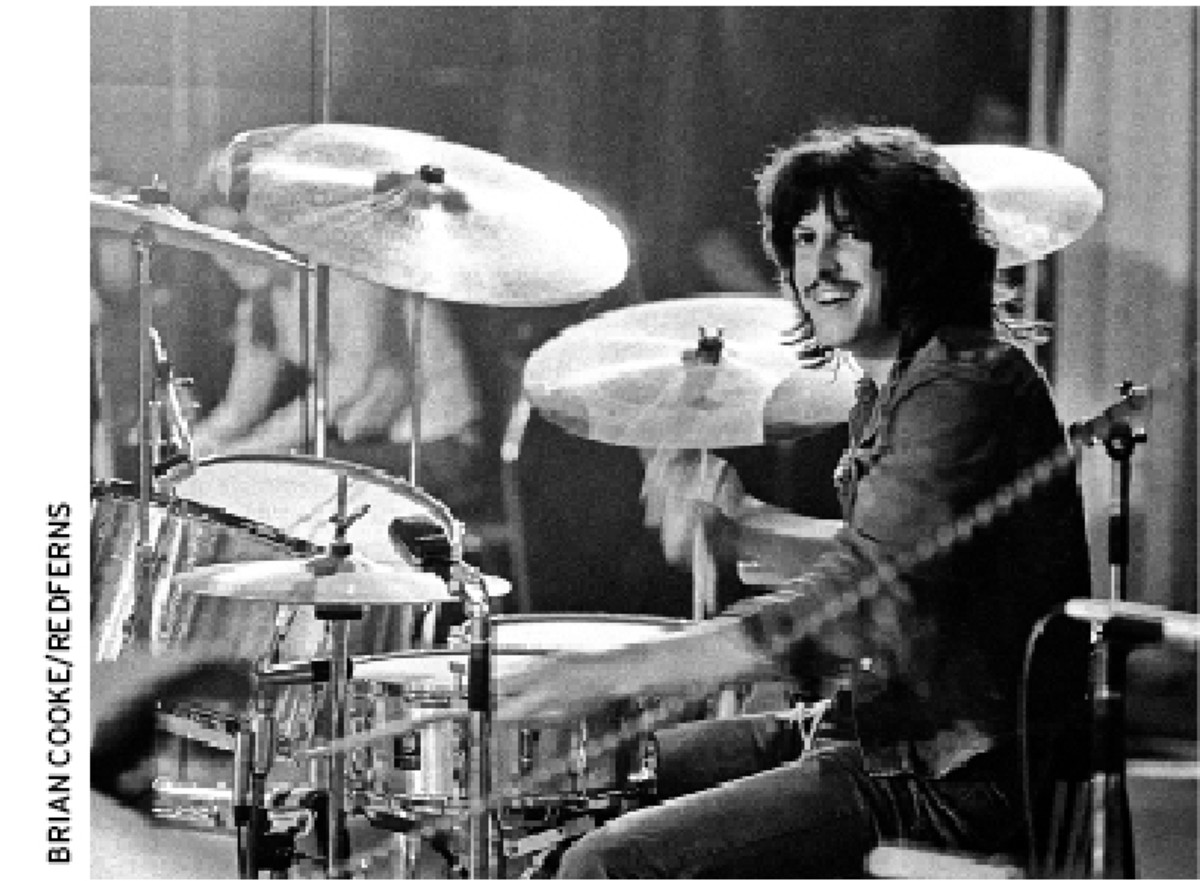 Ric Lee onstage with Ten Years After in 1973.