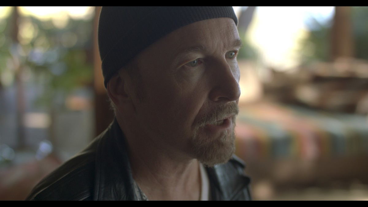 The Edge speaks about the vital bond between band and audience in the film. (Photo courtesy of Roswell Films)