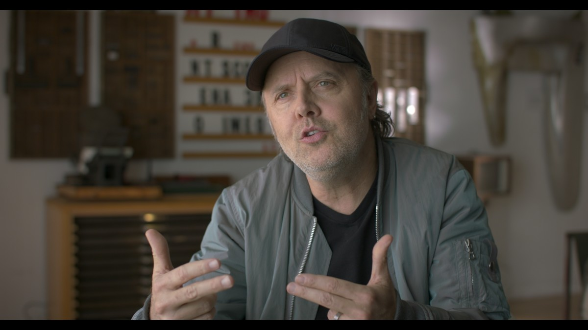 Lars Ulrich states in the film that Metallica is the only band in which he's been a member. (Photo courtesy of Roswell Films)