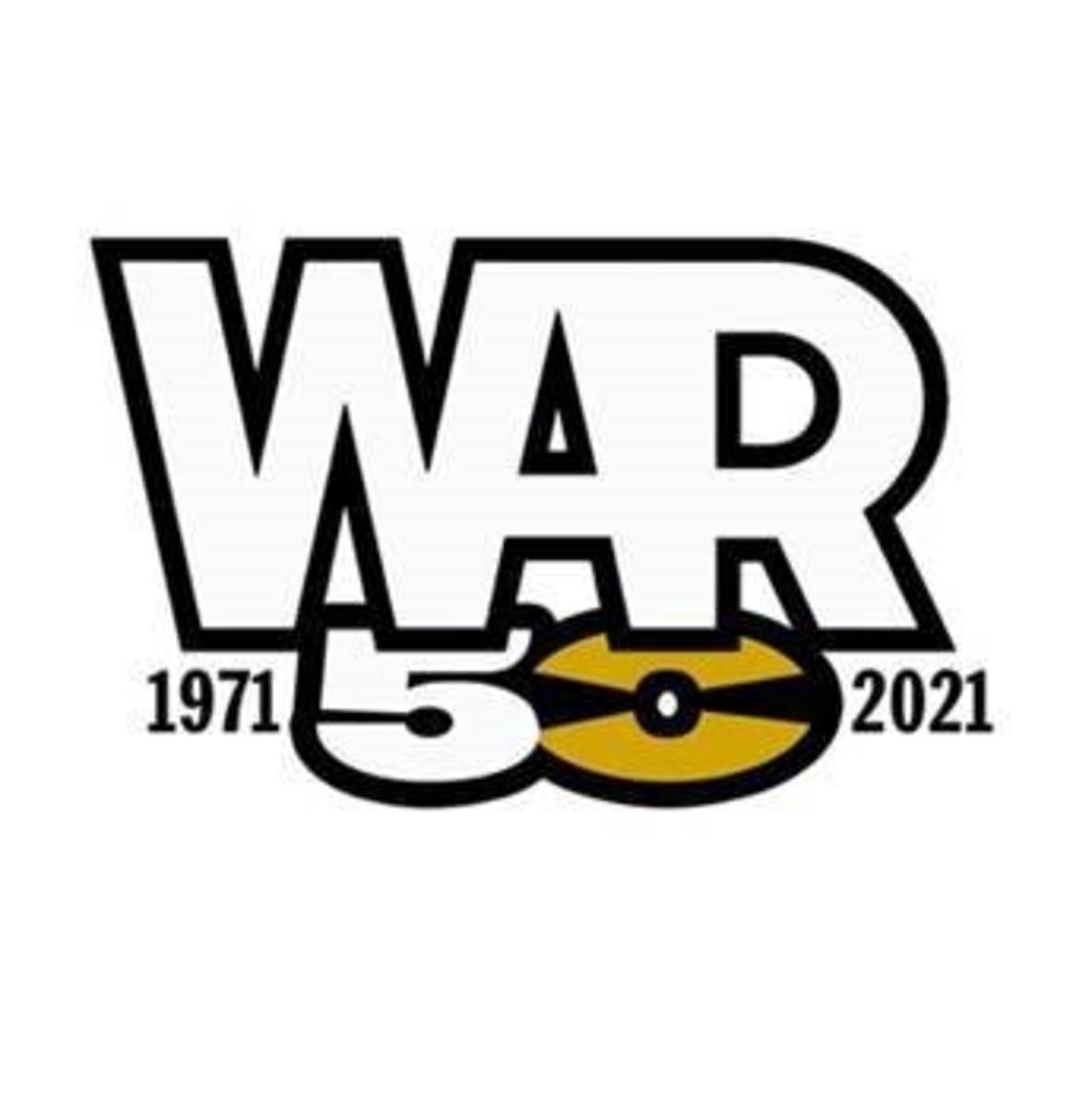 war 50 logo