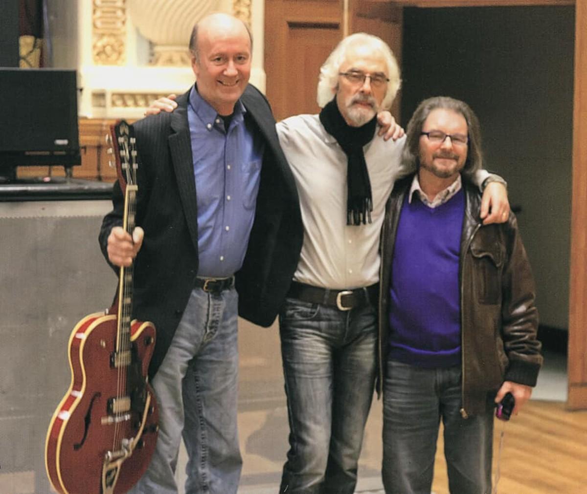 A few of the band members in a more current photo. (L-R): Eddy Pumer, Peter Daltrey and Dan Bridgman.