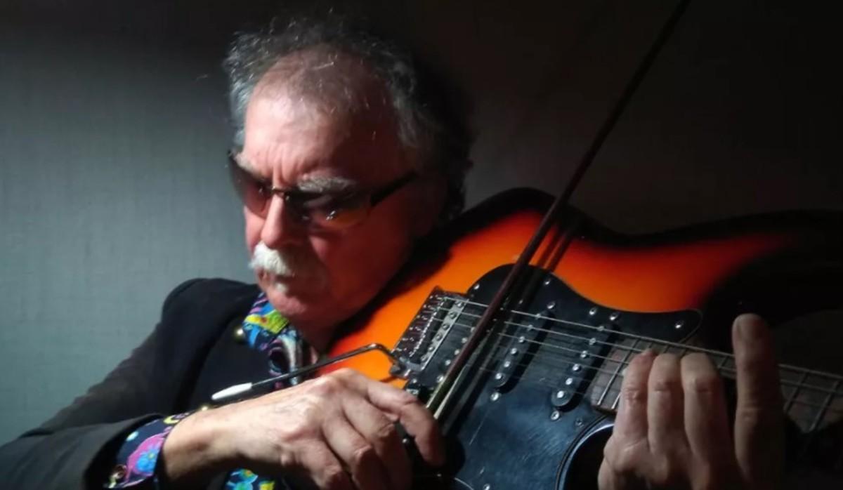 Bowed electric guitar photo courtesy of Darryl Way