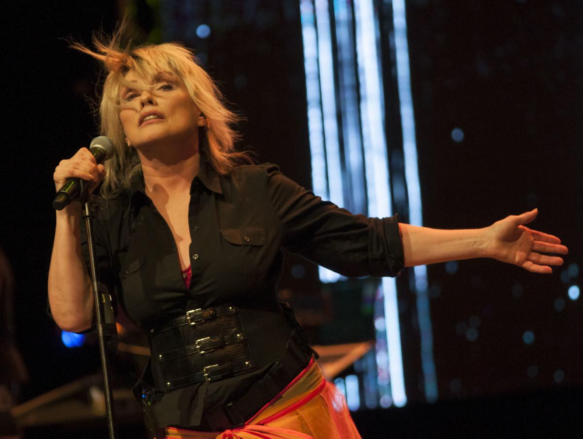 Debbie Harry onstage at Havana's Teatro Mella.