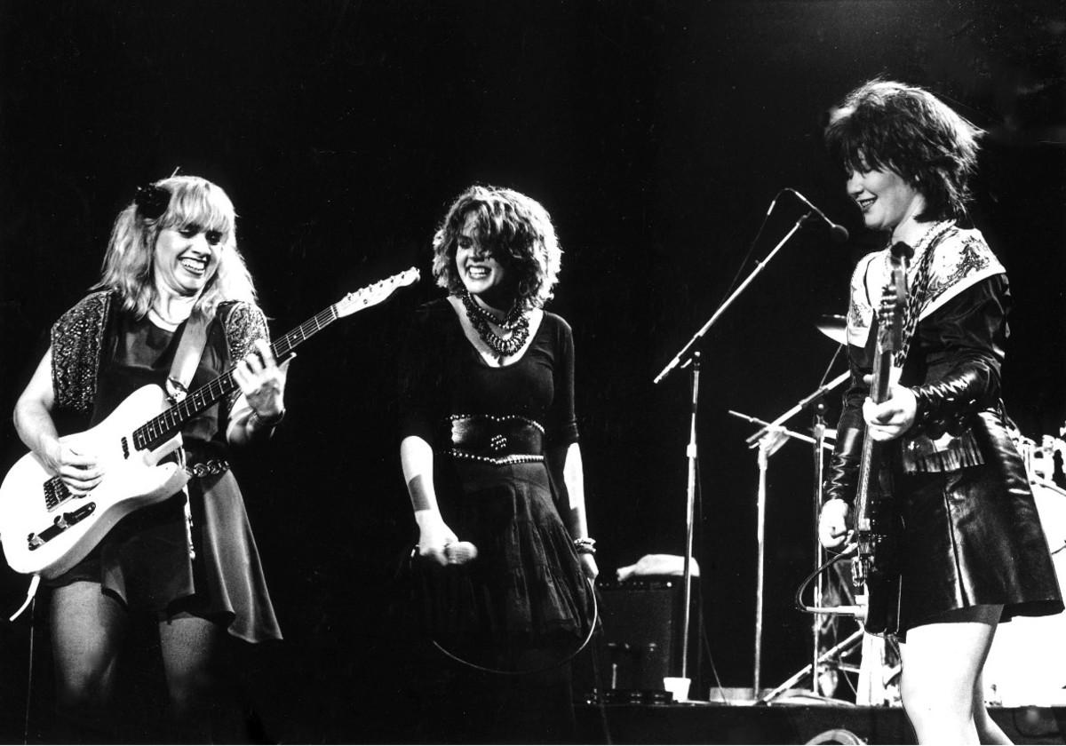 The Go-Go's, Charlotte Caffey, Belinda Carlisle, and Kathy Valentine, The Greek Theater, October 10, 1981