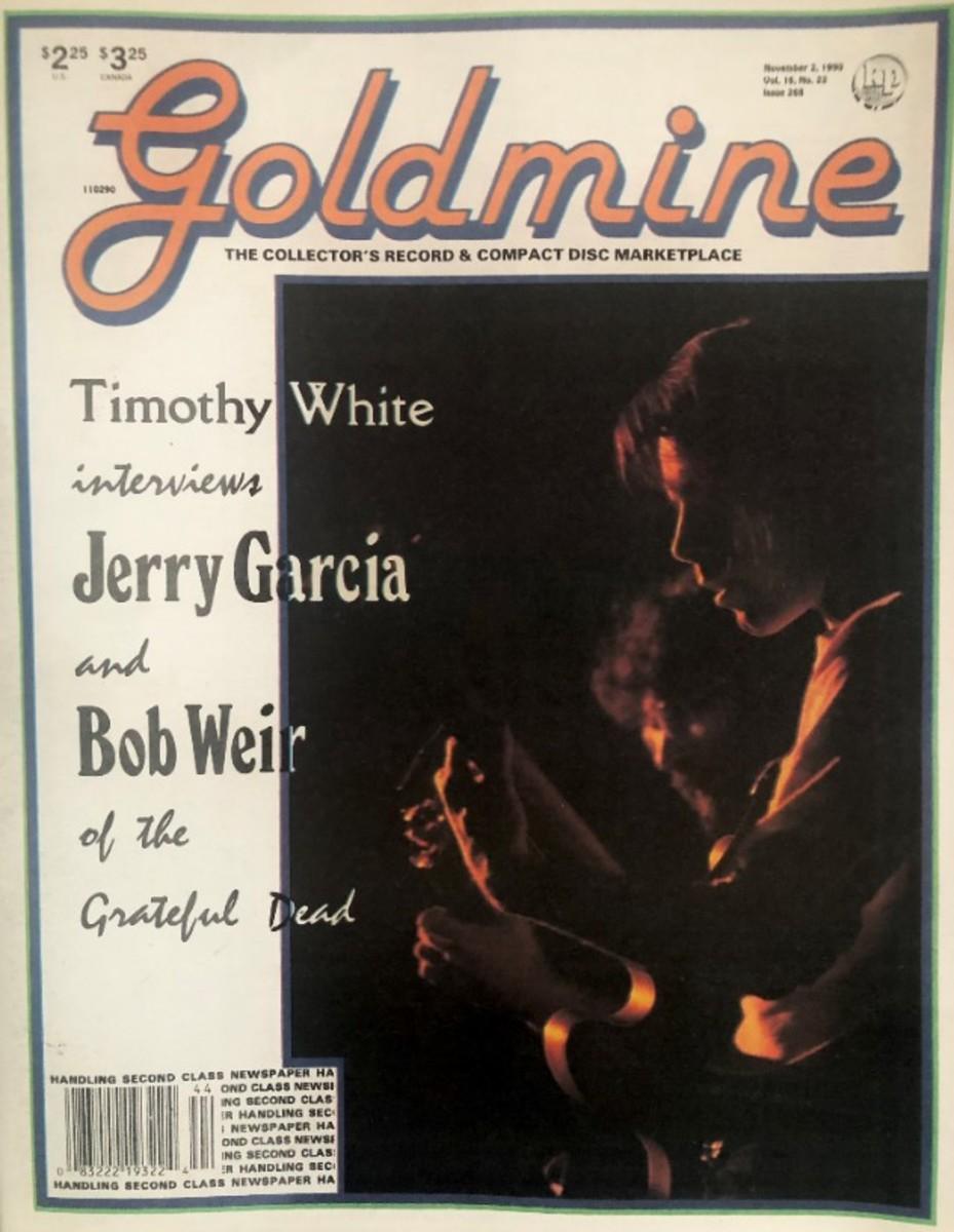 Cover photo by Sherry Rayn Barnett, Goldmine November 2, 1999 issue