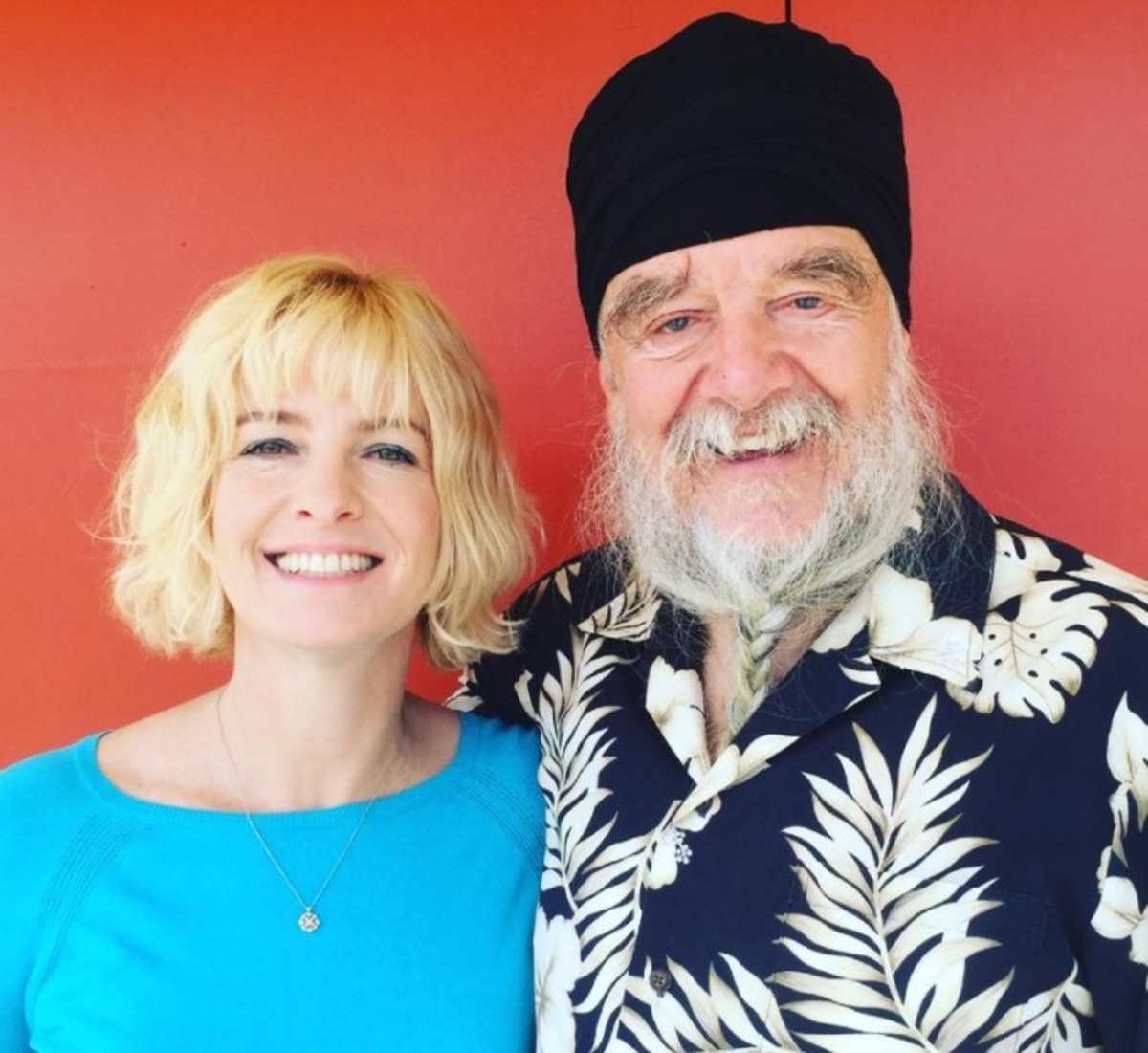 Pritam Potts and her father, photo courtesy of Pri Potts