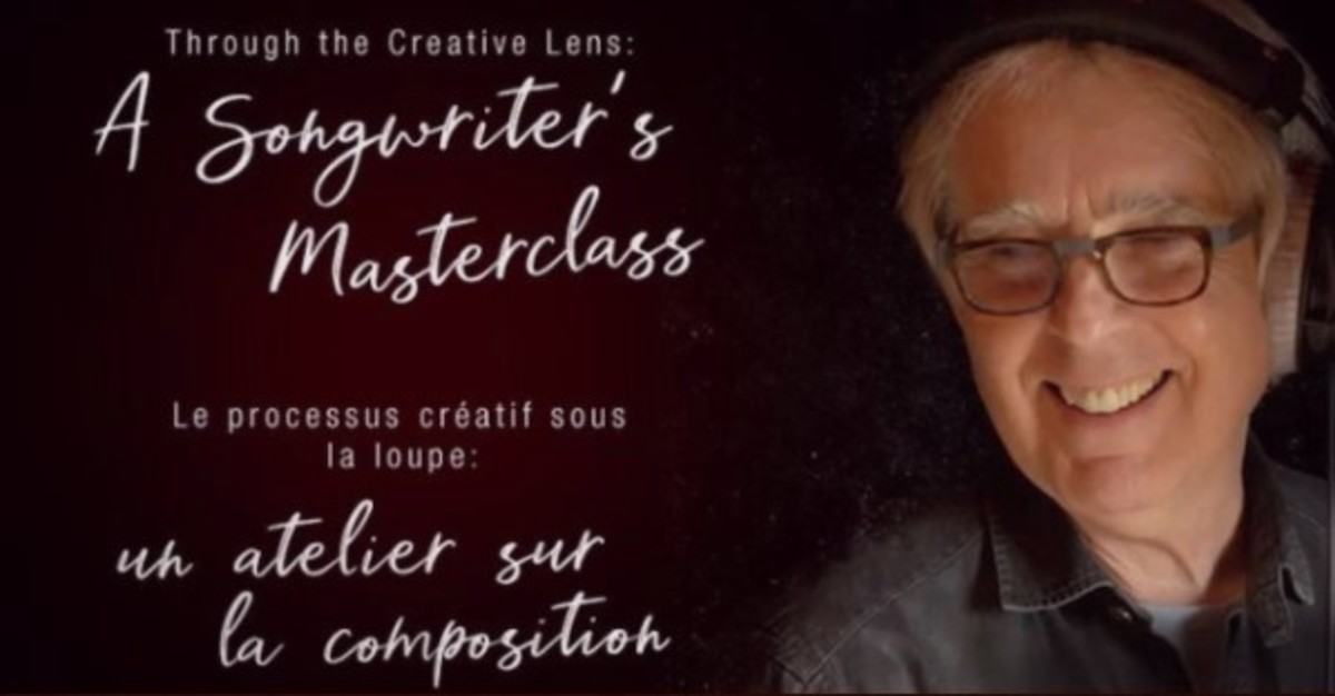 Two hour free songwriting class through christopherward.ca/event