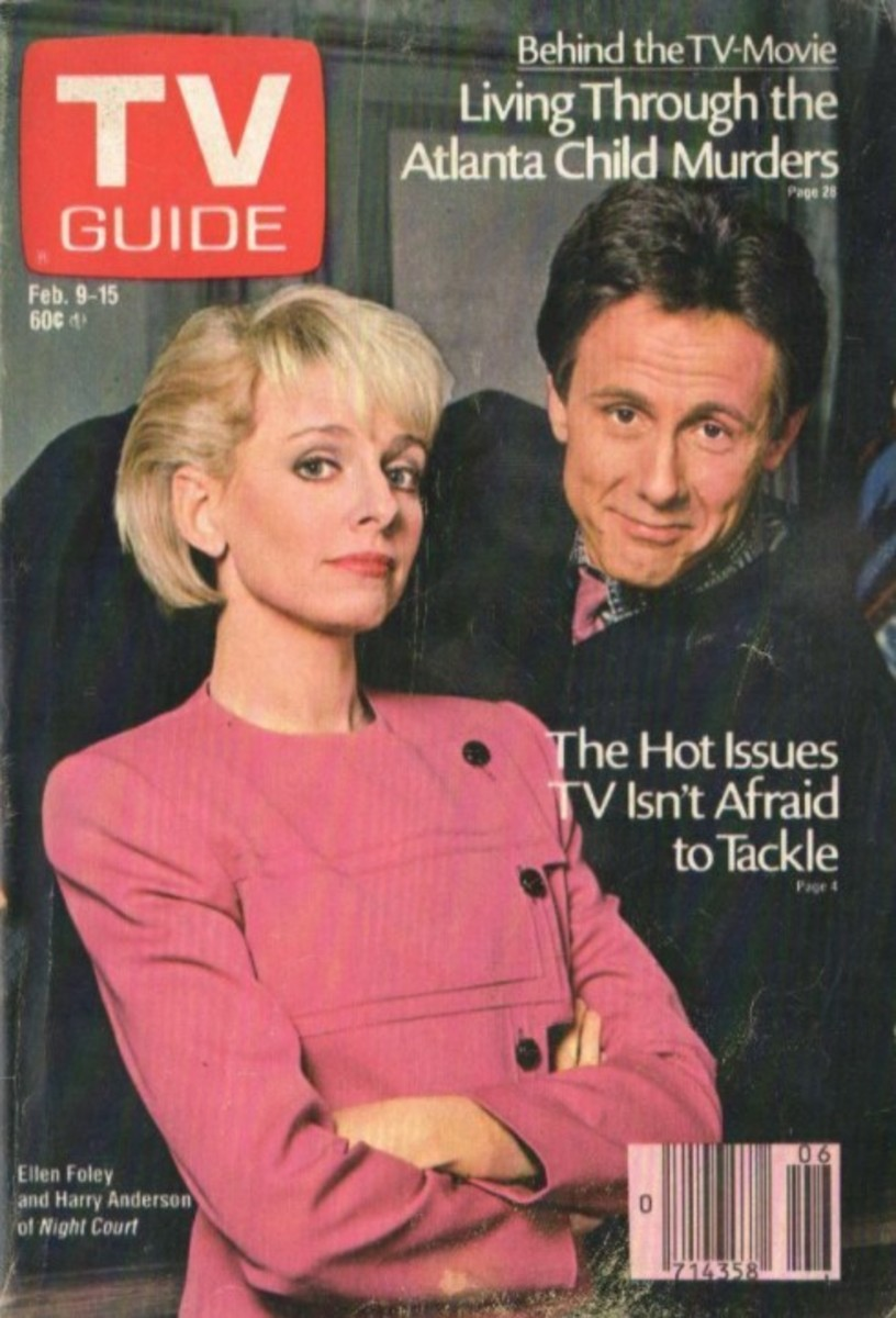 """Ellen Foley and Harry Anderson, """"Night Court"""" 1985"""