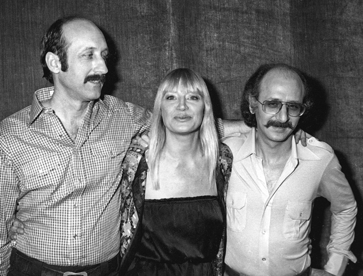 Paul Stookey, Mary Travers and Peter Yarrow of Peter, Paul and Mary attend 'Because We Care' Benefit Party on January 29, 1980 at the Dorothy Chandler Pavilion in Los Angeles.undefinedPhoto by Ron Galella, Ltd./Ron Galella Collection via Getty Images