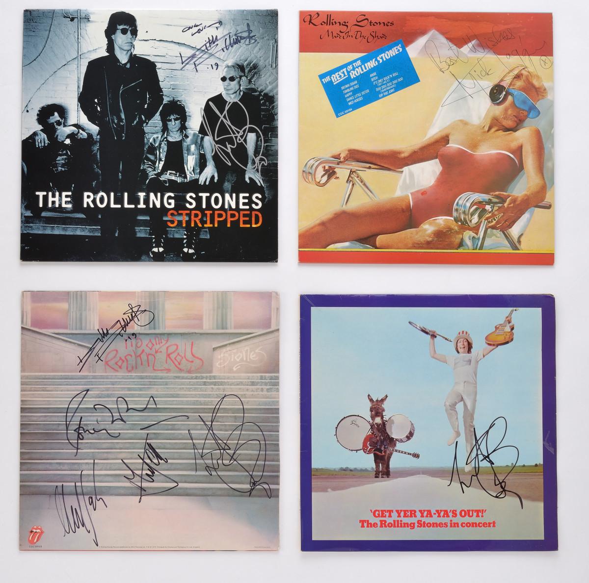 Various autographed Stones albums