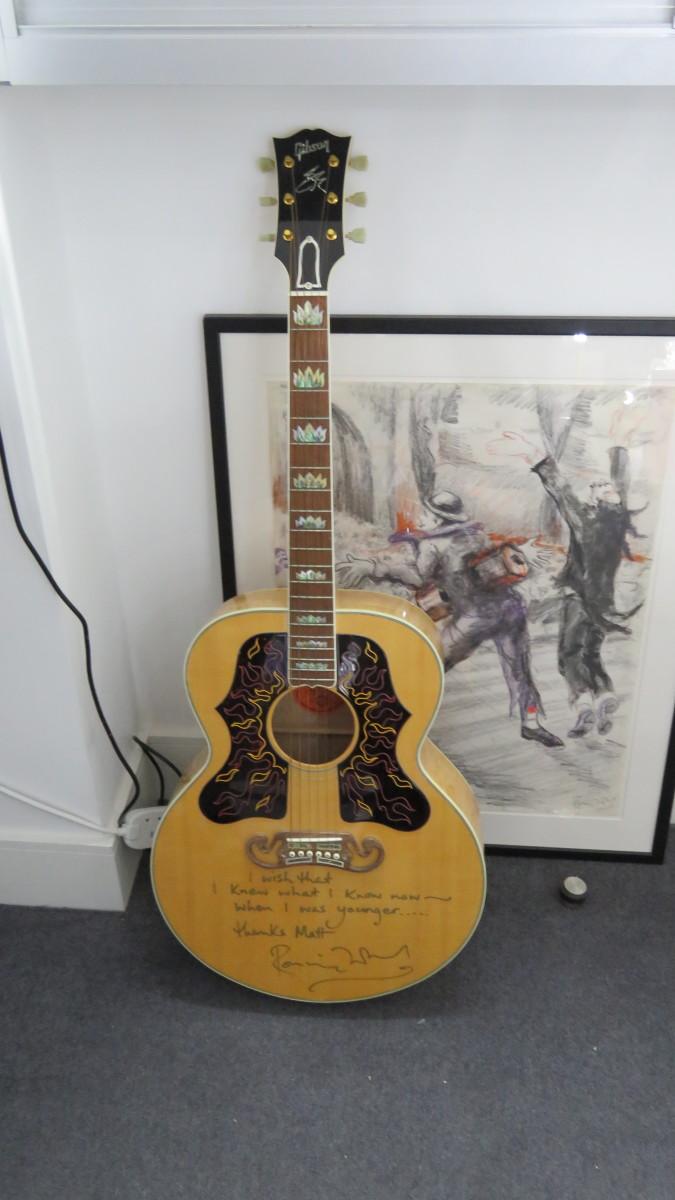 Ron Wood autographed guitar
