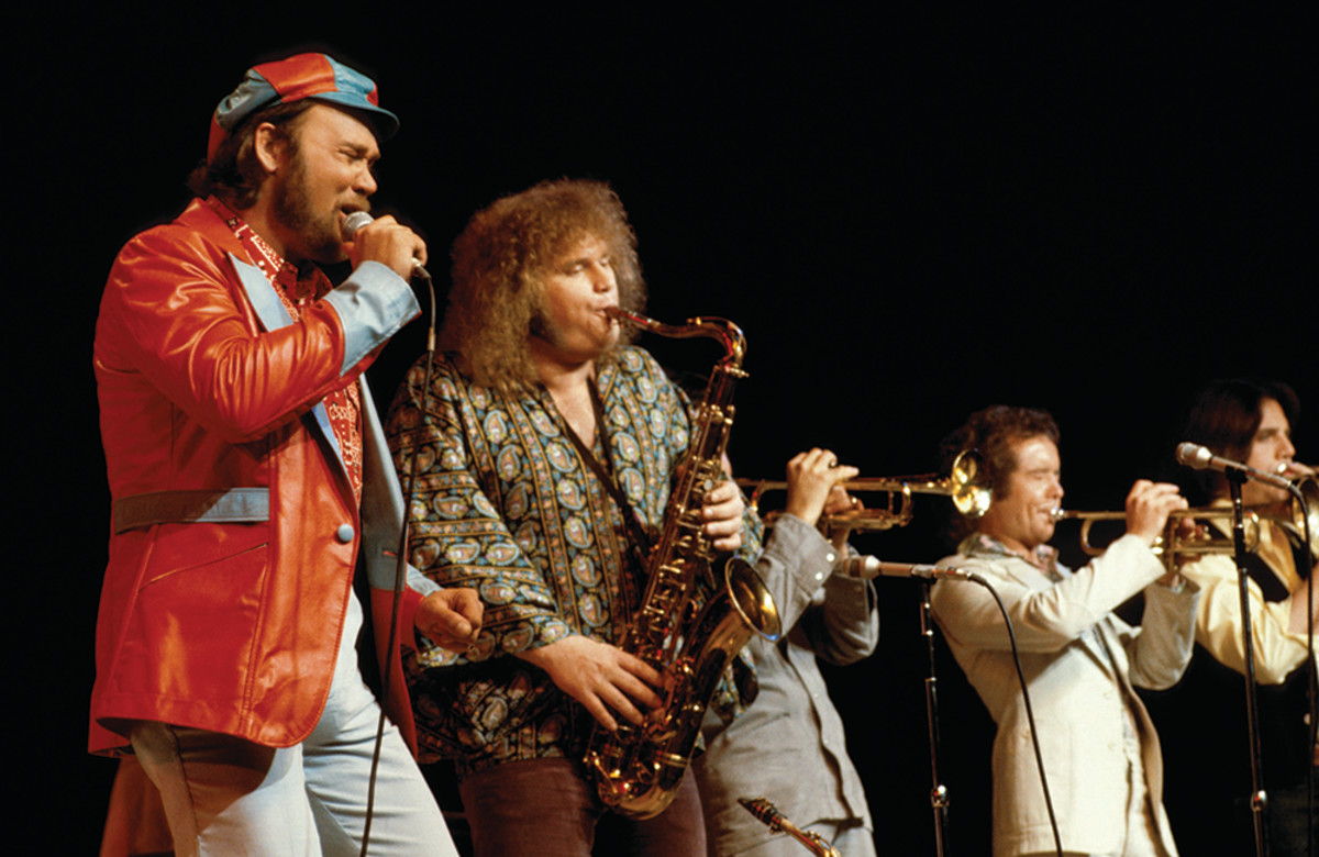 Blood, Sweat & Tears perform live at the Metropolitan Opera House in the 1970s.Photo by Steve Morley/Redferns