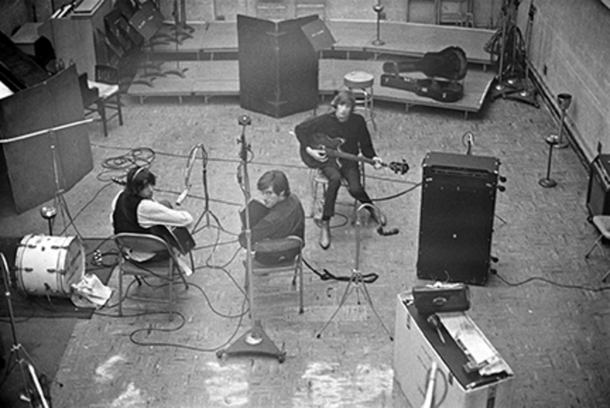 The Lovin' Spoonful during a recording session, circa 1966; Canadian guitarist Zal Yanovsky (1944 - 2002), John Sebastian and bassist Steve Boone.Photo byDon Paulsen/Michael Ochs Archives/Getty Images.