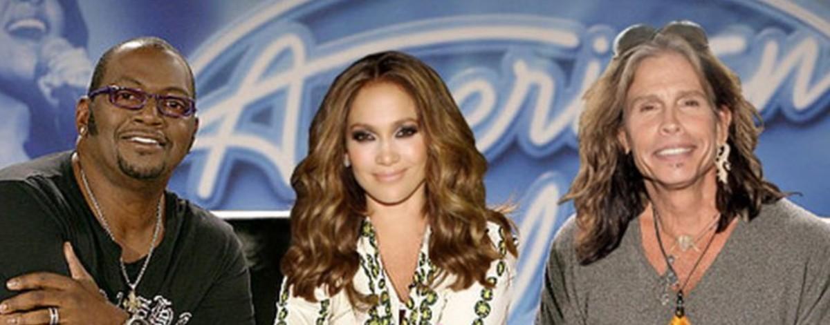 Randy Jackson, Jennifer Lopez, Steven Tyler,Fox television promotional photo
